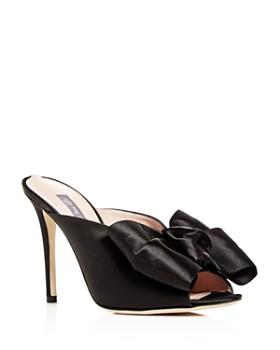 SJP by Sarah Jessica Parker - Women's Vesper Satin Bow High-Heel Slide Sandals