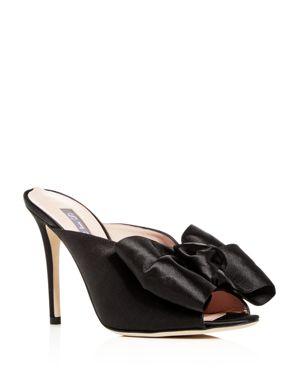 Sjp by Sarah Jessica Parker Women's Vesper Satin Bow High-Heel Slide Sandals
