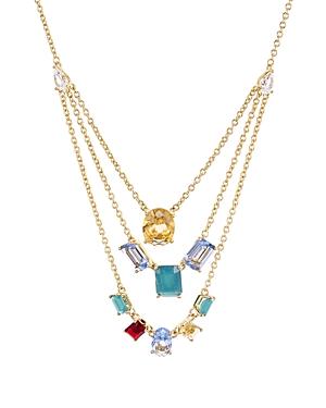 Nadri Verdana Multicolor Layered Necklace, 18