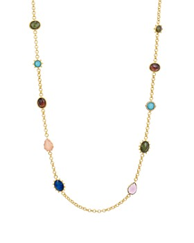 kate spade new york - Scatter Multicolor Stone Station Necklace, 39""