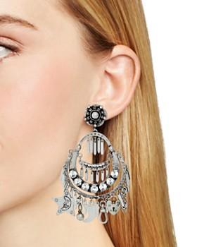 Dannijo - Freesia Charm Chandelier Earrings