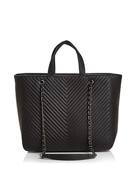AQUA - Chevron Medium Tote - 100% Exclusive