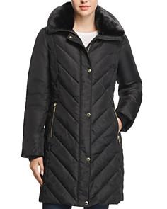 MICHAEL Michael Kors - Faux Fur Collar Puffer Coat