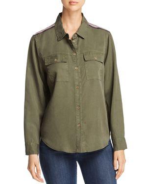 VELVET HEART Saphire Long Sleeve Military Shirt in Olive