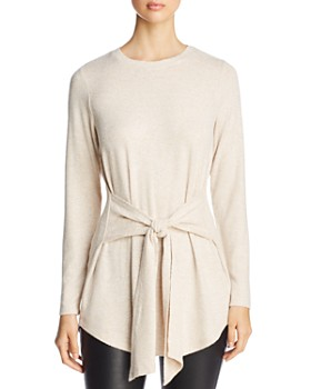 Alison Andrews - Waist-Tie Tunic Sweater