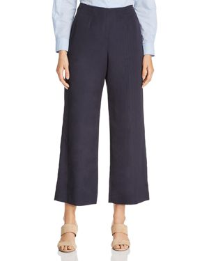 WEEKEND MAX MARA FAVOLA MOIRE CROPPED WIDE-LEG PANTS - 100% EXCLUSIVE