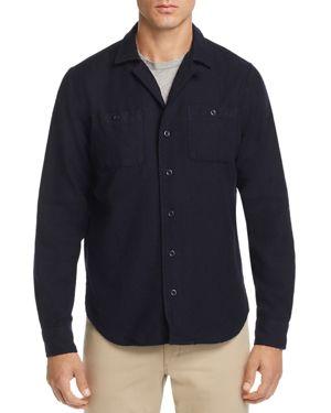 OOBE Easton Regular Fit Camp Shirt in Navy