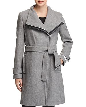 Calvin Klein Belted Asymmetric Front Coat