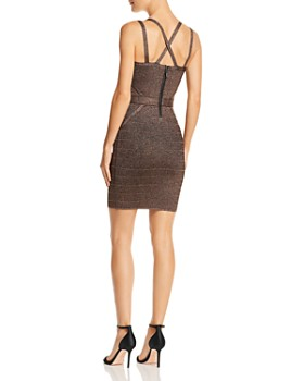GUESS - Mirage Metallic Strappy Body-Con Dress