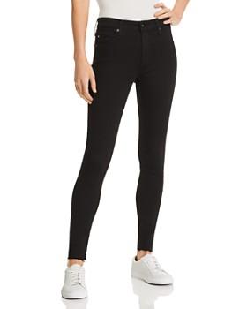 6e56094a37f92 AG - Farrah Raw-Hem Ankle Jeans in Black Ink ...