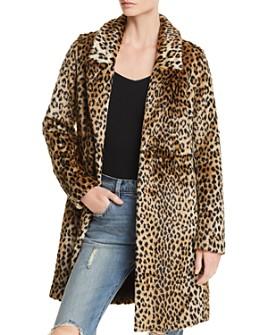 AQUA - Cheetah Print Faux Fur Coat - 100% Exclusive