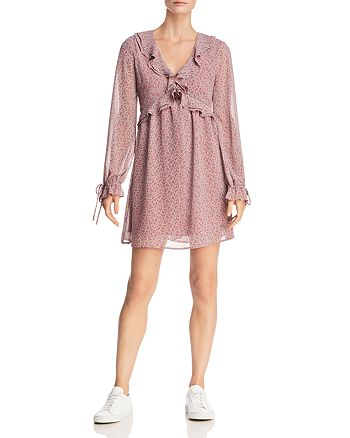 Lost and Wander - Lovestoned Ruffled Floral-Print Mini Dress