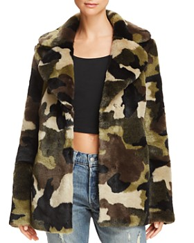 AQUA - Camo Faux Fur Jacket - 100% Exclusive