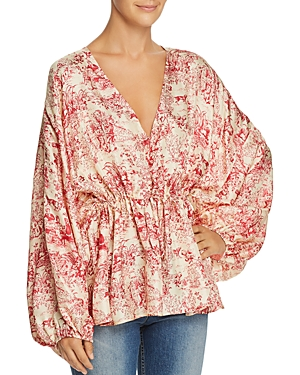 Elizabeth and James Angela Toile Silk Top