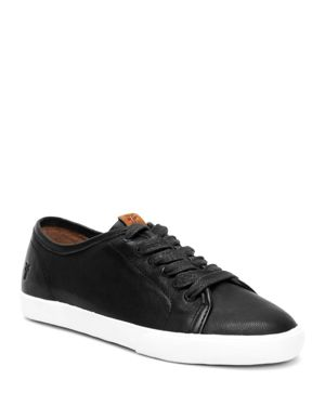Women'S Maya Leather Lace Up Sneakers, Black
