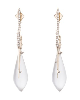 Alexis Bittar - Crystal Encrusted Hook & Teardrop Drop Earrings
