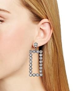AQUA - Pavé Rectangular Drop Earrings - 100% Exclusive