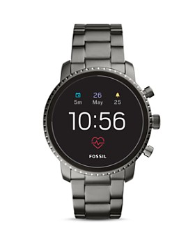 Fossil - Q Explorist HR Gray Stainless Steel Touchscreen Smartwatch, 45mm