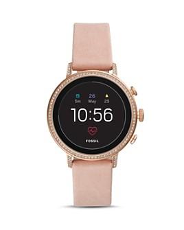 Fossil - Q Explorist HR Pink Strap Touchscreen Smartwatch, 40mm