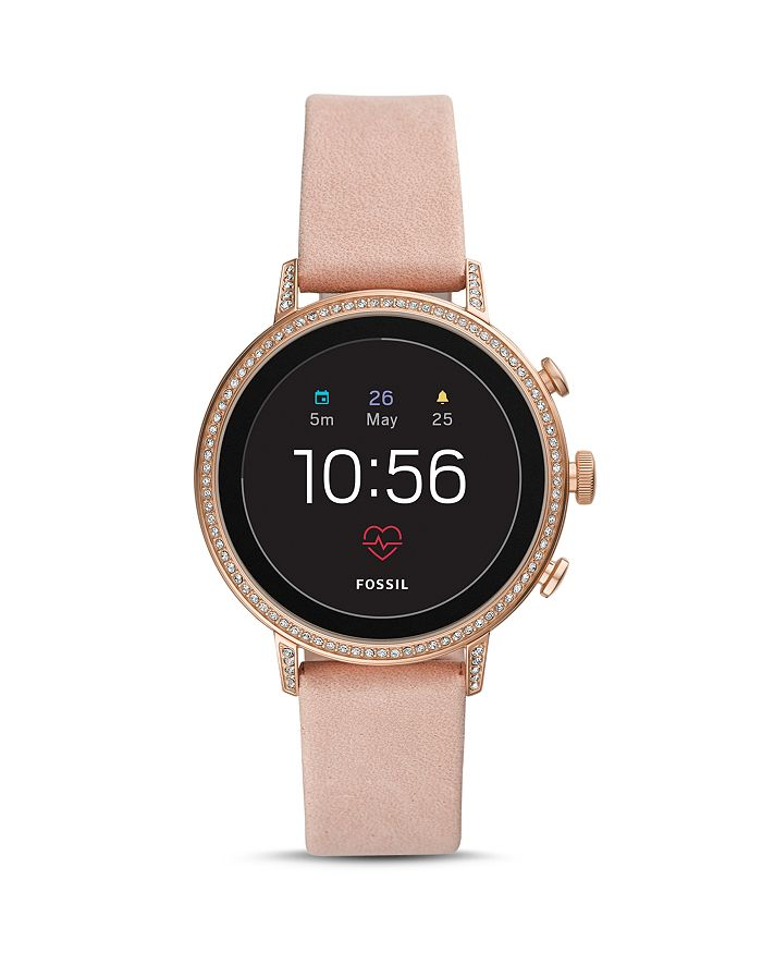 Fossil Q EXPLORIST HR PINK STRAP TOUCHSCREEN SMARTWATCH, 40MM