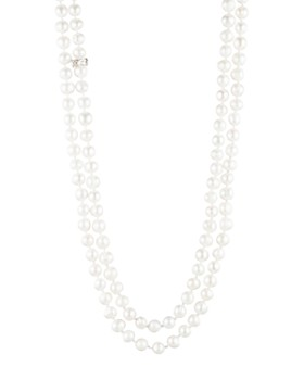 """Carolee - Cultured Freshwater Pearl Knotted Strand Necklace, 64"""""""