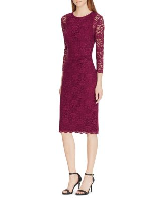 Lace Sheer Sleeve Dress by Lauren Ralph Lauren