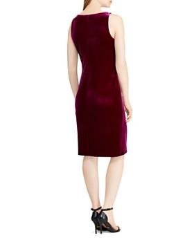 b23fa4b7275 ... Ralph Lauren - Velvet Faux-Wrap Dress - 100% Exclusive