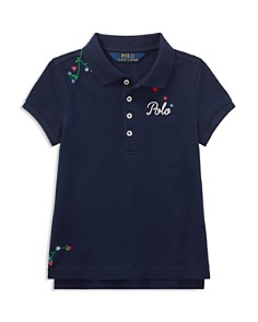 Polo Ralph Lauren Girls' Floral-Embroidered Polo - Little Kid - Bloomingdale's_0