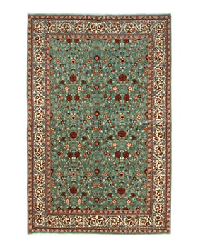 """Solo Rugs - Sarouk Kye Hand-Knotted Area Rug, 6' 1"""" x 9' 2"""""""