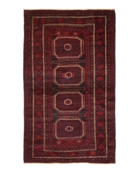 """Solo Rugs - Balouch Diaspora Hand-Knotted Area Rug, 4'3"""" x 7'3"""""""