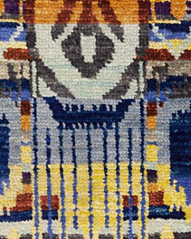 """Solo Rugs - Ikat Ludhiana Hand-Knotted Area Rug, 10'3"""" x 14'4"""""""
