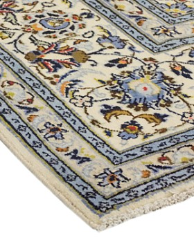 """Solo Rugs - Kashan Silvia Hand-Knotted Area Rug, 6'8"""" x 10'0"""""""