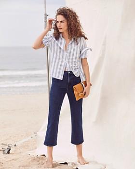 J Brand - Joan High Rise Crop Wide Leg Jeans in Match