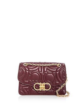 Salvatore Ferragamo Gancini-Quilted Large Leather Shoulder Bag ... 335a353d66