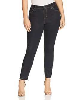 SLINK Jeans Plus -  Coated High Rise Skinny Jeans in Sadie