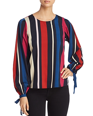 Vero Moda Victoria Striped Tie-Cuff Top
