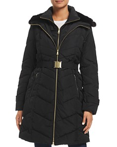Cole Haan - Faux Fur-Lined Hood Puffer Coat