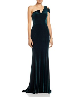 AQUA - Velvet One-Shoulder Gown - 100% Exclusive