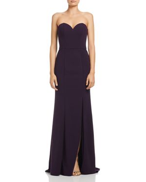 BARIANO Janie Sweetheart Strapless Gown in Deep Purple