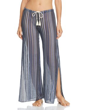 Becca by Rebecca Virtue Pier Side Striped Swim Cover-Up Pants