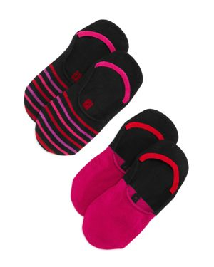 HUE SNEAKER LINER SOCKS, SET OF 2