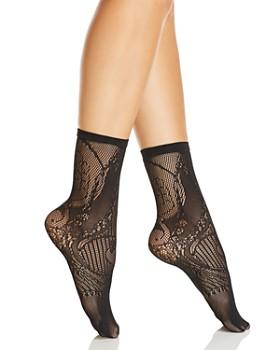 Natori - Plume Lace Net Crew Socks