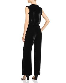 Bella Dahl - Ruffled Velvet Wide-Leg Jumpsuit