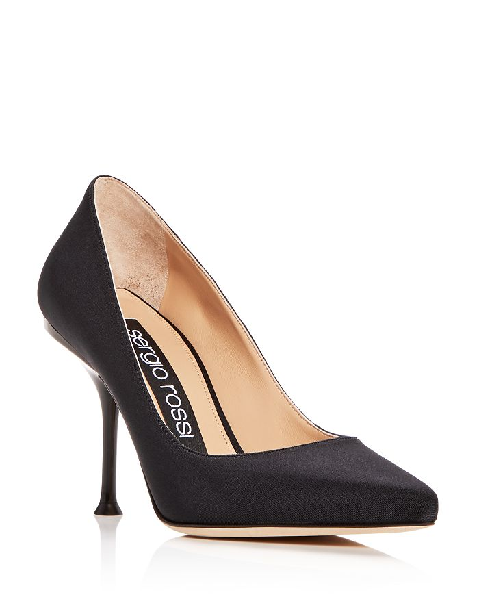 Sergio Rossi Women's Pointed Toe Pumps In Black
