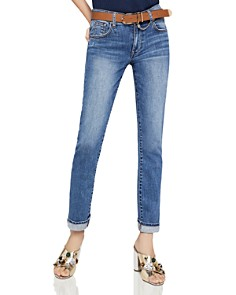 BCBGeneration - Surf Boyfriend Jeans in Dark Stone Wash