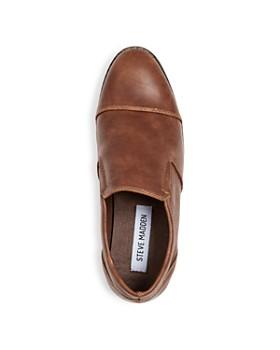 STEVE MADDEN - Boys' Bserge Leather Cap Toe Loafers - Little Kid, Big Kid