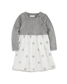 Elegant Baby - Girls' Snowflake Sweater Dress - Baby