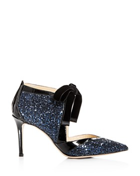 MARION PARKE - Women's Molly Glitter & Patent Leather Pointed Toe Pumps