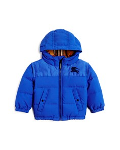 Burberry - Boys' Mini Ezra Hooded Down Puffer Coat - Baby