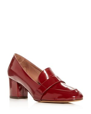 Tabitha Simmons Women's Mika Leather Block-Heel Loafers